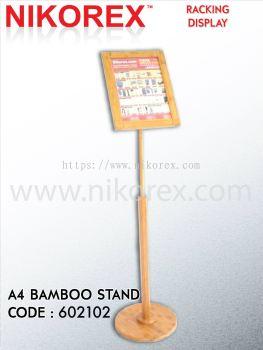 17177-HH4-15B BAMBOO A4 MENU DISPLAY STAND