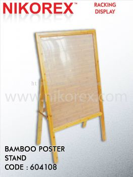 17174-HH4-12B BAMBOO POSTER STAND-1SIDED