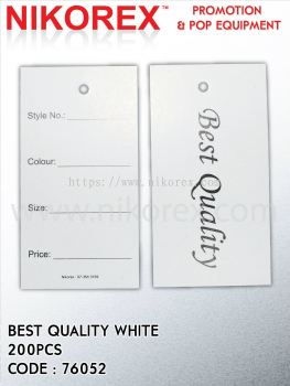 76052-BEST QUALITY-WHITE-200PCS