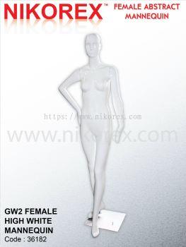 36182-GW2 FEMALE HIGH WHITE MANNEQUIN
