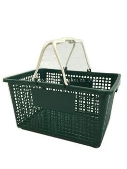 80070GN-0733 SHOPPING BASKET-GREEN