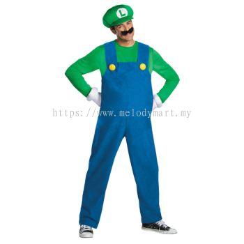 Super Mario Luigi Adult Costume (1006 0102 16)