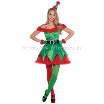 Christmas Elf Lady Green