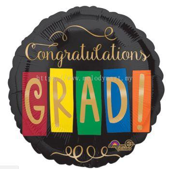 """Foil 18"""" Anagram Congrat grad"""