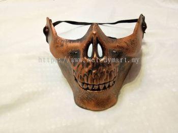 Skeleton Half Face Mask - Bronze
