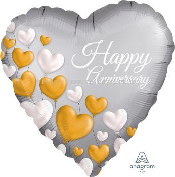"""Foil 18""""happy Anniversary"""