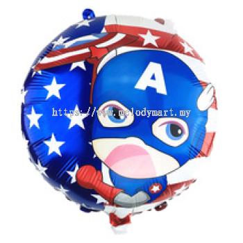 "FOIL 18"" CAPTAIN AMERICA"