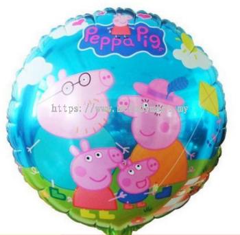 """Foil 18""""Peppa pig - family"""