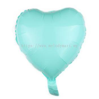 """Foil 18"""" Macaron Heart - L.Blue"""