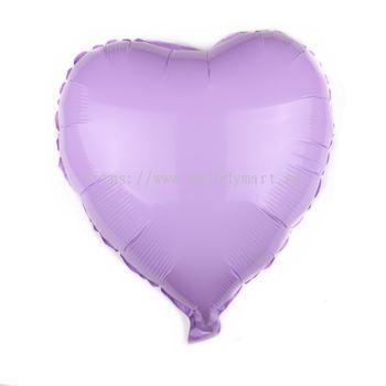 "Foil 18"" Macaron Heart - L.Purple"