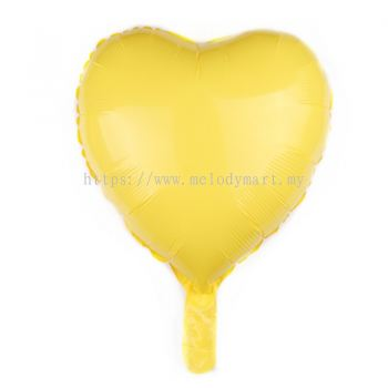 "Foil 18"" Macaron Heart - Yellow"