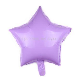 "Foil 18"" Macaron Star - L.Purple"