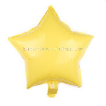 "Foil 18"" Macaron Star - Yellow"