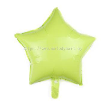 "Foil 18"" Macaron Star - L.Green"