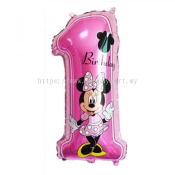 """Foil 30"""" Number 1 - Minnie"""