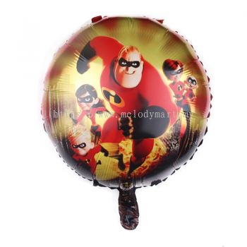 "Foil 18"" Incredibles - Family"