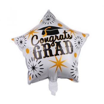 "Foil 18"" congrats star shape - white"