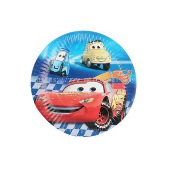 Paper Plate 10'S - Mcqueen Car