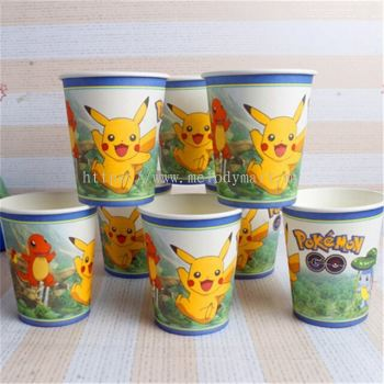 Paper Cup 10'S - Pokemon