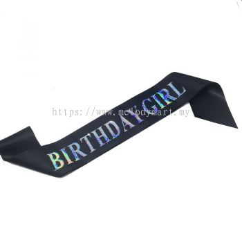 Sash - Glitter B.Girl - Black
