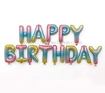 Happy Birthday set - Gradient Color