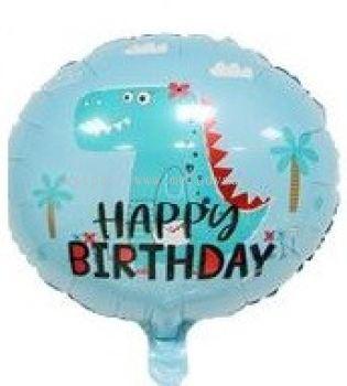 "Foil 18"" h.Birthday Dinasour"
