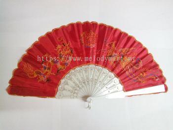Wedding Dragon Phoenix Fan - 2074