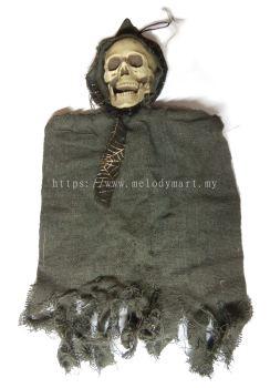 Hanging Skull Ghost 30cm