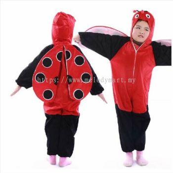 Kids ladybird jumpsuit / pyjamas