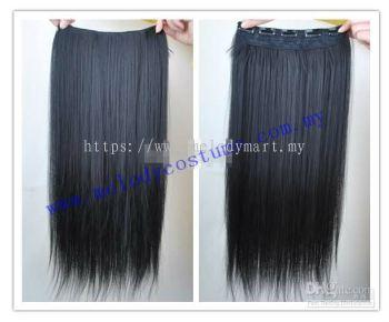Straight Hair Black Hair Extension - 1022