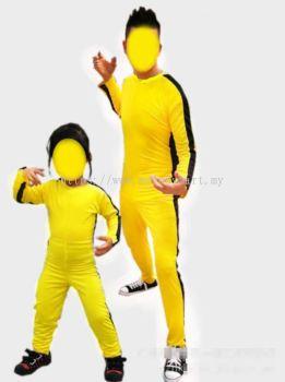 Bruce Lee Yellow Jumpsuit Adult & Kids (1008 0501)
