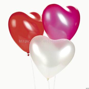 Atex 12 inch Latex Heart Shape Balloons