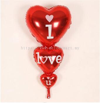 Foil 128*62 3 Hearts ILU