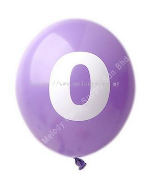 12 inch Number print Latex Balloon - 2105 010