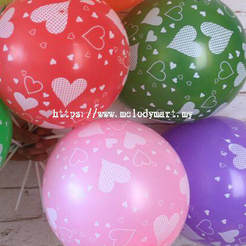 Printed Balloon Heart Shape Pattern