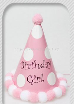 Party Hat Pink / Dots / Birthday Girl