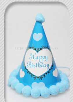 Party Hat Blue / Heart