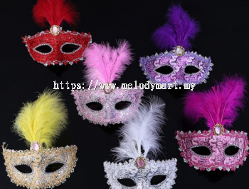 Feather Half Mask - 2014 0207