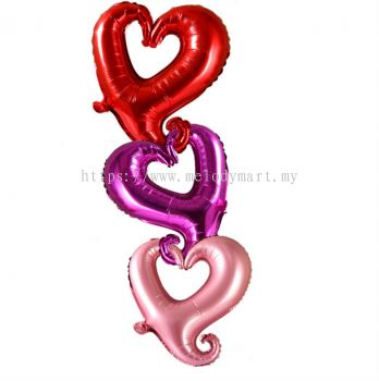 "Foil 18"" Heart-Shaped Hook Hollow 2117 0109"