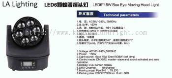 LED 6x15W Bee Eye Moving Head Light