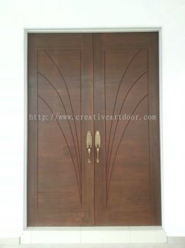 Double leaf design door