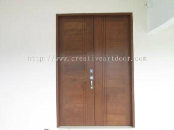 Double leaf design door