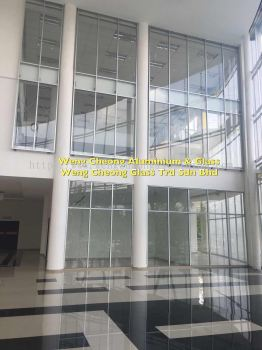 Curtain Wall Aluminium With Tempered Glass