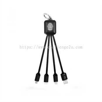LED Logo 3 in 1 Fast Charging Cable (IT109)