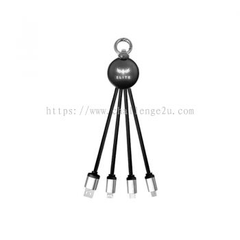 LED Logo 3 in 1 Fast Charging Cable (IT110)