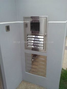 Stainless Steel Ammeter Door 001