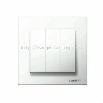 CE8031B 3G 1W / CE8032B 3G 2W Flush Switch