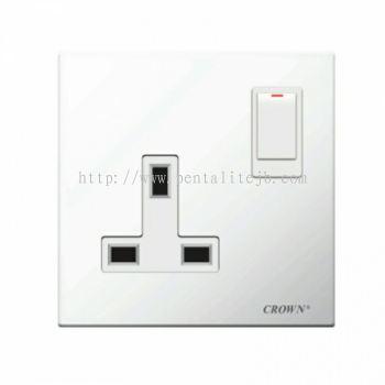 CE813SB 13A 1G Flush Switch Socket