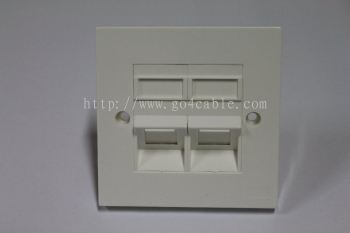 RJ45 Face Plate Cat 6 ALL-LINK Double Port 45degree