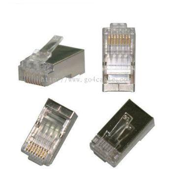 RJ45 Modular Plug FTP Cat 6 Dcom
